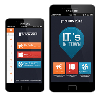 I.T Is On! - Socially-integrated mobile campaign lights up I.T Show