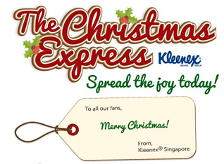 Spread the Kleenex softness with The Christmas Express