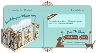 Pass on the cheer, comfort and affection with Kleenex
