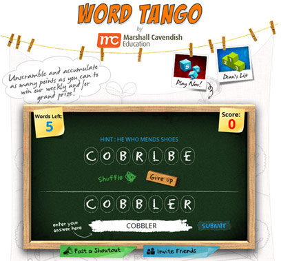 Marshall Cavendish Education makes learning fun with Word Tango