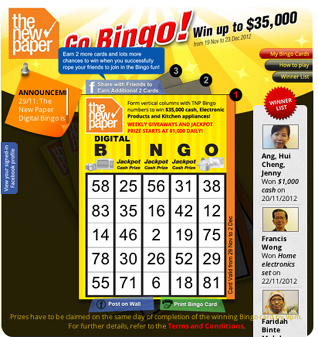 Go Bingo! Bringing TNP Bingo back - with a social twist